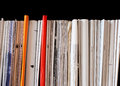 Bindings of old exercise books and pamphlets Royalty Free Stock Photo