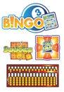 Bingo,abacus logo game vector