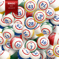 Bingo Background with Balls. Vector Illustration.