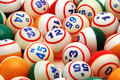 Bingo Ball Background Stock Photography