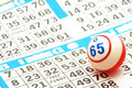 Bingo Ball on Card Royalty Free Stock Image
