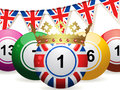 Bingo ball jubilee and bunting Royalty Free Stock Image