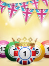 Bingo balls and bunting Royalty Free Stock Photo
