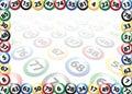 Bingo balls frame concept, vector illustration Royalty Free Stock Photo