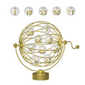 Bingo Balls in Gold Cage Royalty Free Stock Photo