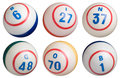 6 Bingo Balls Royalty Free Stock Photo