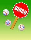 Bingo Balls & Paddle Royalty Free Stock Photos