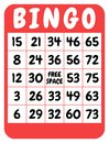Bingo card Stock Photos
