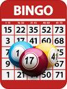 Bingo card and balls background Royalty Free Stock Photo