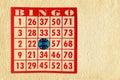 Bingo Card on Parchment Royalty Free Stock Photo