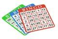 Bingo cards, 3D rendering