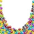 Bingo lottery balls numbers background. Lottery game balls. Lotto winner.