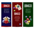 Bingo lottery lotto game vector banners set Royalty Free Stock Photo