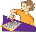 Bingo player illustration Stock Image