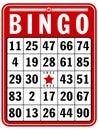 Bingo Score Card Royalty Free Stock Photo