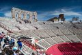 Binnen Verona arena Royalty-vrije Stock Fotografie
