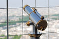 Binocular coin operated public in paris Stock Photography