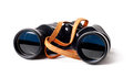 Binoculars the army on a white background Stock Photography