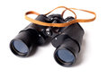 Binoculars the army on a white background Stock Photos