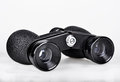 Binoculars black on white background Royalty Free Stock Photos