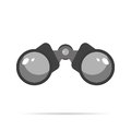 Binoculars Icon Flat design with shadow blue circle Royalty Free Stock Photo