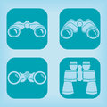 Binoculars icon - four variations Royalty Free Stock Photo
