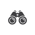 Binoculars icon vector, filled flat sign