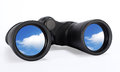 Binoculars Looking at the sky Future vision Royalty Free Stock Photo