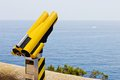 Binoculars in Mediterranean Sea Royalty Free Stock Images