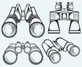 Binoculars. Set icon Royalty Free Stock Photos