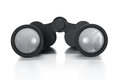 Binoculars single black pair of isolated on a white background Royalty Free Stock Image