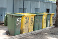 Bins row of large for rubbish Royalty Free Stock Photos