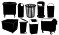 Bins set of garbage isolated Royalty Free Stock Photo