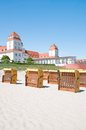 Binz ruegen island baltic sea germany at the beach of mecklenburg vorpommern Stock Photography