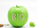 Bio apple a green for your healthy Royalty Free Stock Image