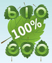 Bio and eco labels Stock Images