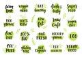 Bio, eco, organic logos set