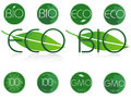 Bio and eco symbols set of natural symbol Royalty Free Stock Photo