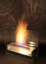 Bio fireplace isolated at studio Royalty Free Stock Photography