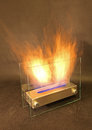 Bio fireplace isolated at studio Royalty Free Stock Photos