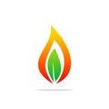 Bio flame energy organic logo