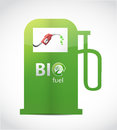 Bio fuel gas pump illustration design over white Royalty Free Stock Photography