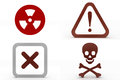 Bio Hazard Caution Cross Danger Symbols Royalty Free Stock Images