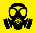 Bio hazard gas mask symbol Stock Images