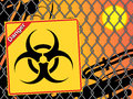 Bio hazard sign. Royalty Free Stock Photos