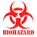 Bio hazard stamp illustration Royalty Free Stock Images