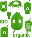 Bio icons. Royalty Free Stock Image