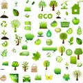 Bio icons and labels Royalty Free Stock Photography
