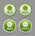 Bio and natural product badge icons Royalty Free Stock Image