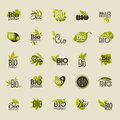 Bio product set of vector labels and emblems beautiful illustration Stock Photo